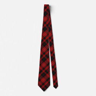 Red & Black Cunningham Tartan Plaid Neck Tie