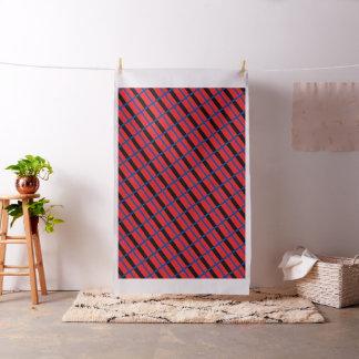 "RED BLACK DEEP BLUE Ivory Linen (54"" width) Fabric"
