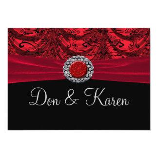 Red & Black Draped Baroque Announcement