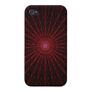 Red black energy web iPhone 4/4S cover