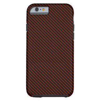 Red & Black Fibre Base Tough iPhone 6 Case