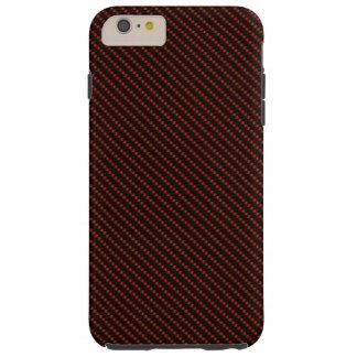 Red & Black Fibre Base Tough iPhone 6 Plus Case