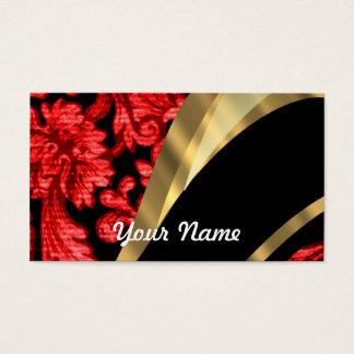 Red & black floral damask