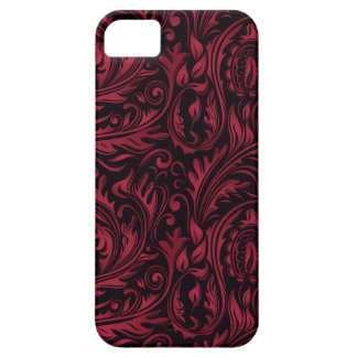 Red & Black Floral Paisley Swirls iPhone 5 Cover