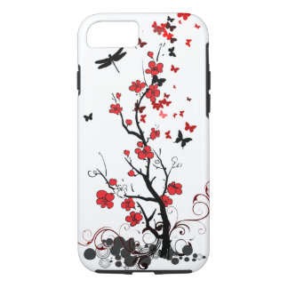 Red & Black Flowers iPhone 7 Case