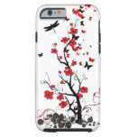 Red & Black Flowers Tough iPhone 6 Case