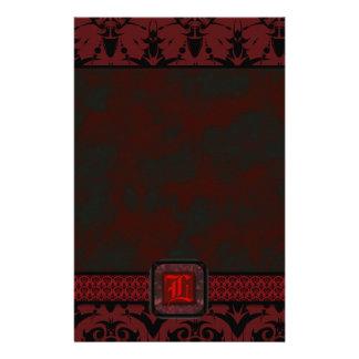 Red & Black Goth Lace Wedding Custom Stationery
