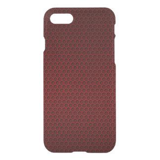 Red & Black Graphite Honeycomb Carbon Fiber iPhone 8/7 Case