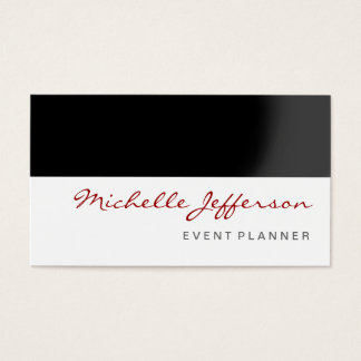 Red Black Gray White Event Planner Business Card