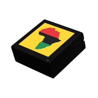 Red, Black & Green Africa Flag Gift Box