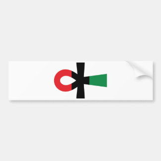 Red, Black & Green Ankh Bumper Sticker