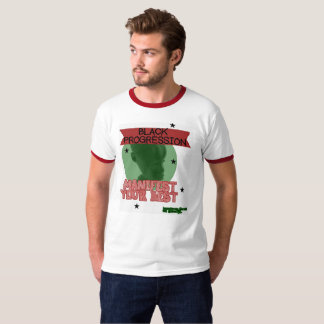 Red,Black,Green Manifest your Best print T-Shirt