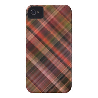Red black green tartan pattern iPhone 4 cases