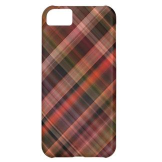 Red black green tartan pattern iPhone 5C case