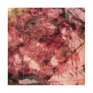 Red black grunge abstract paint brush modern art wood canvases