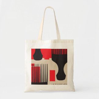 Red Black Hair Comb Afro Pick Budget Tote Bag