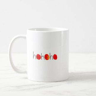 Red & Black Ho Ho Ho Hand-painted Christmas Mug