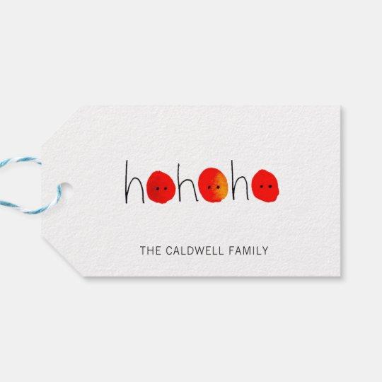 Red & Black Ho Ho Ho Hand-painted Gift Tags