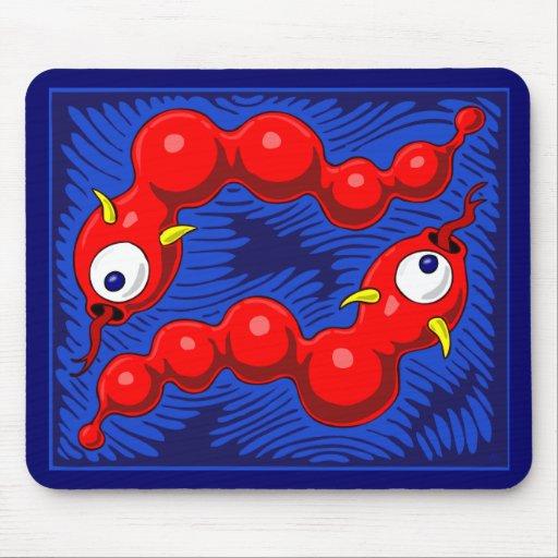 Red Black-hole snake Mousepads and Mugs