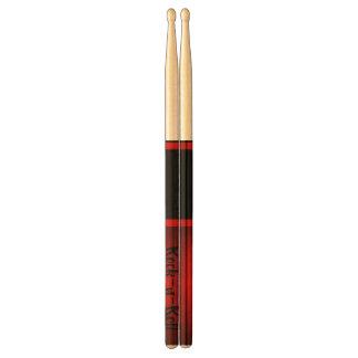 Red Black Hues/Rock-n-Roll  Design Drumsticks