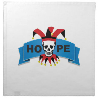 red black joker of death napkin