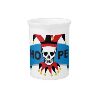 red black joker of death pitcher