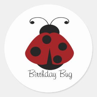 Red Black Ladybug Stickers