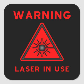 Red & Black Laser Warning Symbol Sticker