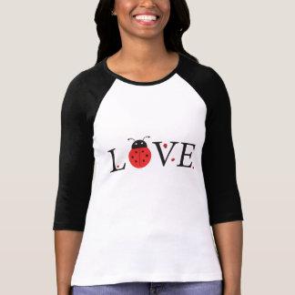 Red & Black 'Love' Ladybugs Baseball Jersey T-Shirt