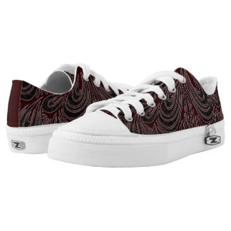 Red_Black Low Tops Shoes Printed Shoes