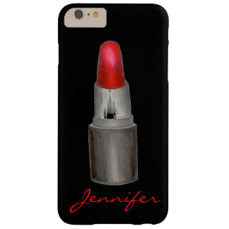 Red Black Makeup Lipstick Tube Personalized Case