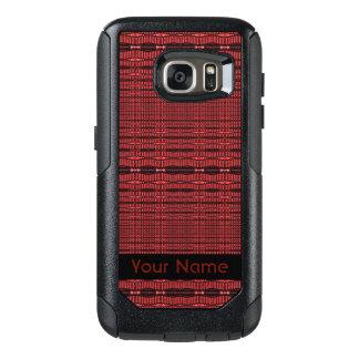 Red Black Modern Pattern OtterBox Samsung Galaxy S7 Case