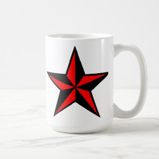 Red & Black Nautical Star Mug