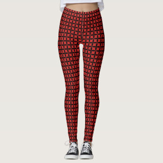 red-black pattern leggings