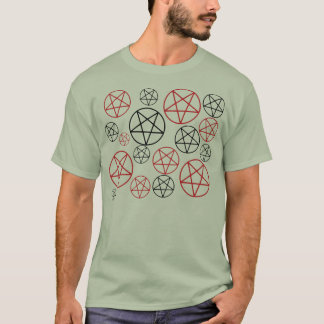 Red & Black Pentagrams Shirt