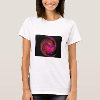 RED BLACK  PINK LIGHT VORTEX,Fractal Art T-Shirt