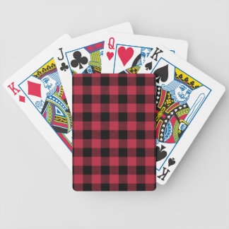 Red & Black Plaid Bicycle Playing Cards
