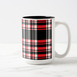 Red & Black Plaid Mug