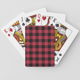 Red & Black Plaid Playing Cards