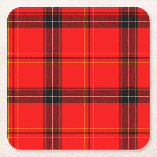 Red & Black Plaid Tartan Decorative Coasters