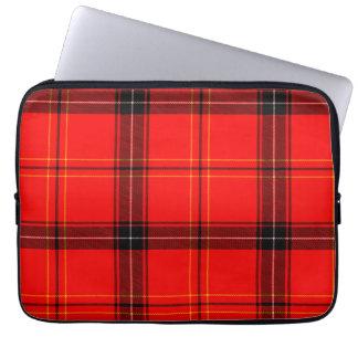 Red & Black Plaid Tartan Laptop Sleeve