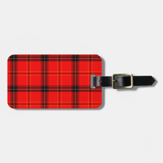 Red & Black Plaid Tartan Luggage Tag