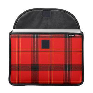 Red & Black Plaid Tartan MacBook Pro Sleeve