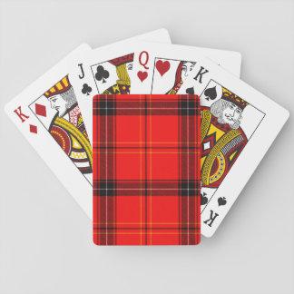 Red & Black Plaid Tartan Playing Cards