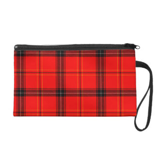 Red & Black Plaid Tartan Wristlet