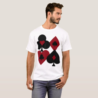 Red & Black Poker Card Deck Suits T-Shirt