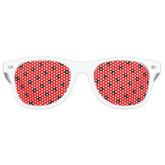 red black polka dot retro sunglasses