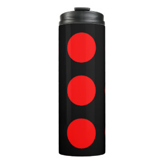 Red Black Polka Dotted 4Anik Thermal Tumbler