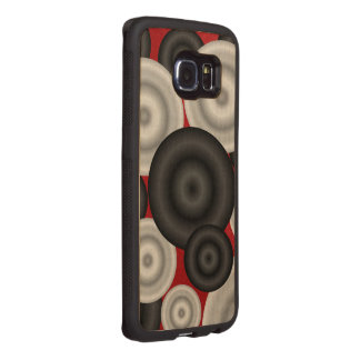 Red Black Retro Wood Phone Case