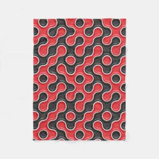 Red & Black Rotation Fleece BlanketBlue Fleece Blanket